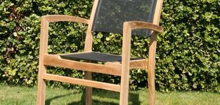 Giardino Gili stapelstoel - N Taupe