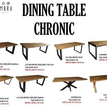 CHRONIC tafel 220x100
