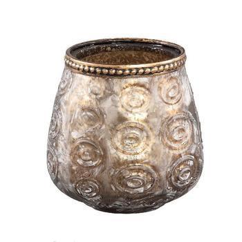 Vieve Glass brown tealight circle votive round