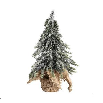 Christmas Izzy green PE glitter tree jute base s