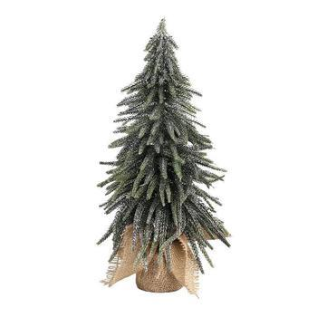 Christmas Izzy green PE glitter tree jute base m