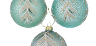 Glazen kerstbal Larea groen 8cm