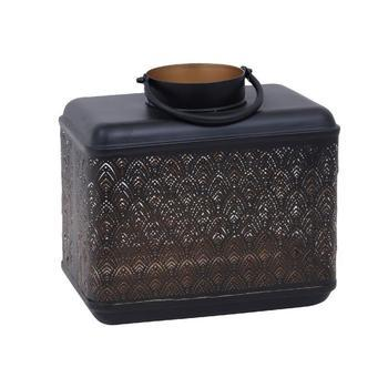 Djevo Black iron lantern gatsby votive rectangle S