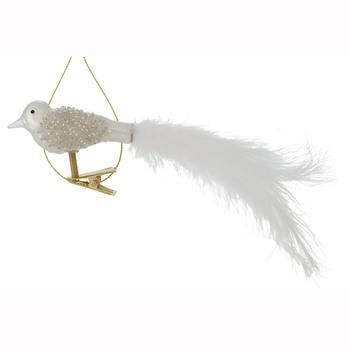 Lorena vogel wit 16cm