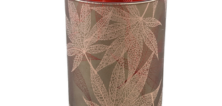 Elz Red glass leaves round stormlights m