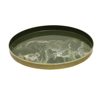 Roch Green iron round bowl s
