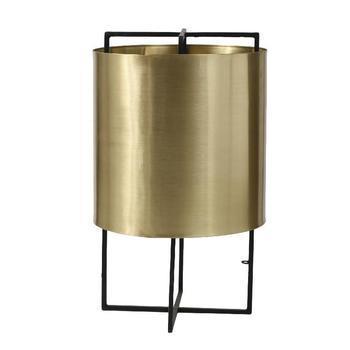 Brass Light matt big golden shade black foot