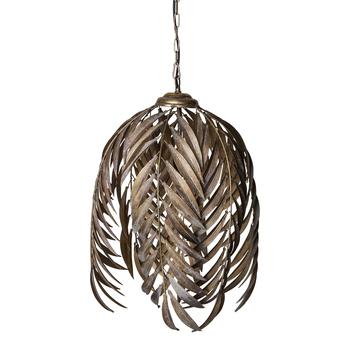 Mea Gold metal hanging lamp palm leaves long s