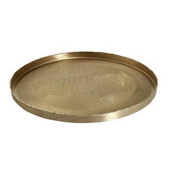 Brush Gold aluminium round bowl L