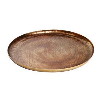 Oskar Gold aluminium hammered round bowl L