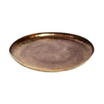 Oskar Gold aluminium hammered round bowl m