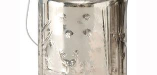 Theelichthouder Skage 14cm - zilver
