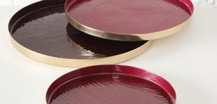 Schaal Tanniya roze/rood - 35cm