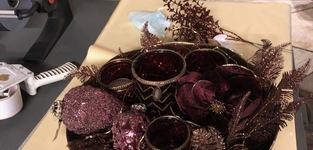 decotak kerst - bordeau