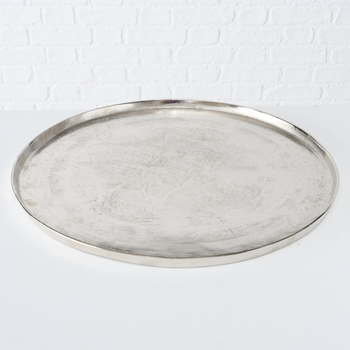 Schaal aluminium zilver - 54cm