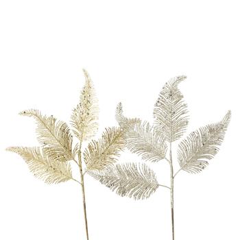 deco tak kerst blad - goud