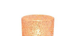 Theelichthouder Cilinder Parel Glas Roze