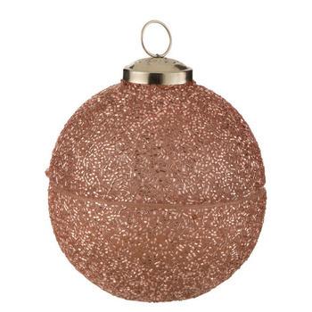 Kaars Kerstbal Parel Glas Roze