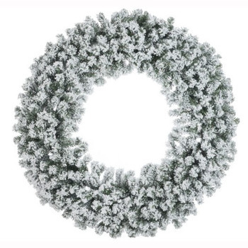 Krans Kerst Deco Plastiek Groen/Wit Besneeuwd Extra Large