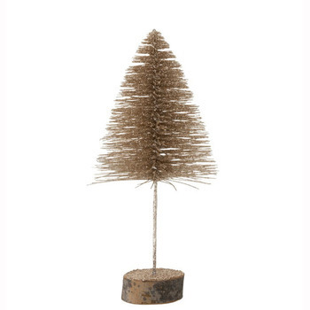 Kerstboom Deco Glitter Champagne Medium