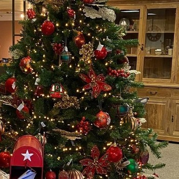 Kerstbal rood 10 cm - 4 stks