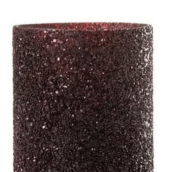 Theelichthouder glitter bordeau 21cm
