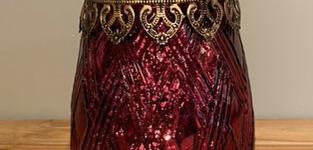 Carys Glass red votive stormlight medium