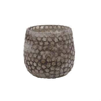 Christmas Jamey silver glass tealight meduim