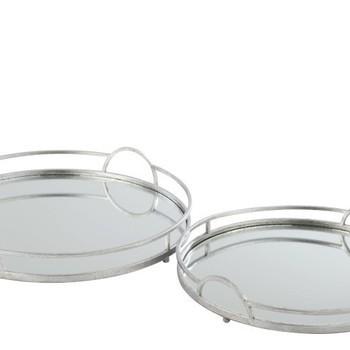 schaal zilver/glas dia 40cm
