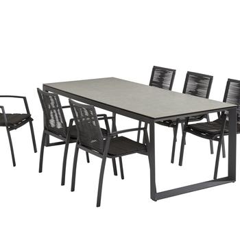 Bel air tafel + 6 palma