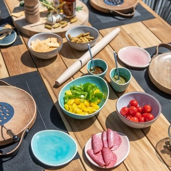 Basso tafel 240 + 6 Barista stapelstoelen