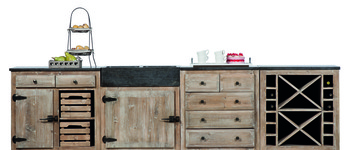 Keuken Old pine 4 parts grey wash - KITCH 10