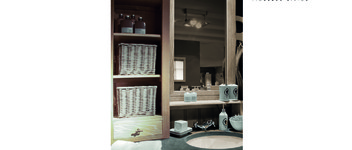 Badkamer cabinet oak white wash