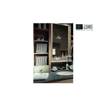 Badkamer cabinet 2pers oak white wash - BATH 032W
