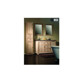 Badkamer cabinet blue stone oak white finish  - BATH 002W