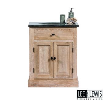 Badkamer single cabinet oak white wash - BATH 033W