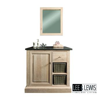 Badkamer spiegel oak white wash - BATH 021M