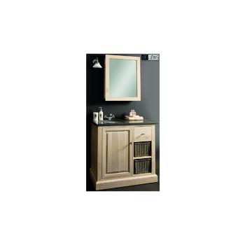 Badkamer spiegelkast oak white wash - BATH 002M