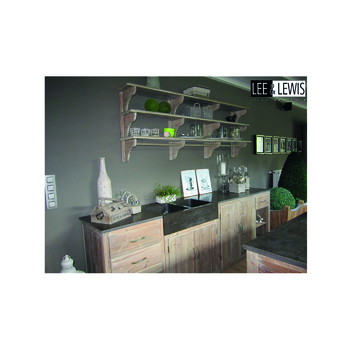 Keuken unit old pine olive with stone top - KITCH 01A